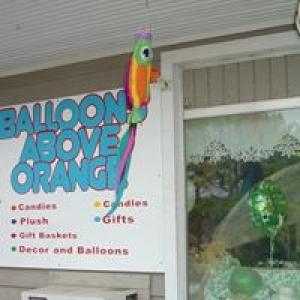 Balloons Above Orange
